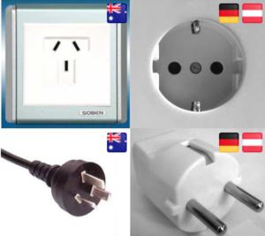 Steckdosen Stecker Australien Deutschland Vergleich