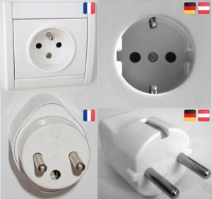 Steckdosen Stecker Frankreich Deutschland Vergleich