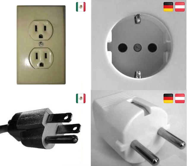 Stecker und Steckdosen in Mexiko und Deutschland im Vergleich