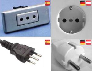 Steckdosen Stecker Spanien Deutschland Vergleich
