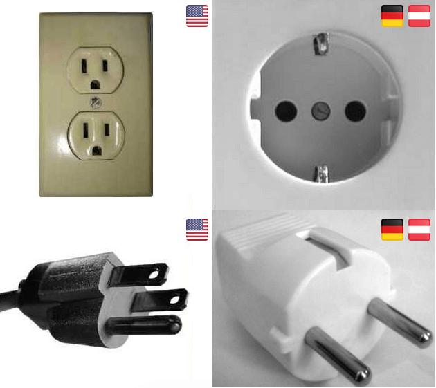 Stecker und Steckdosen in den USA und Deutschland im Vergleich